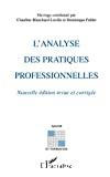 L'analyse des pratiques professionnelles